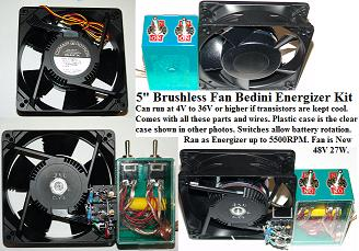 5 Inch  Brushless Fan Energizer Kit